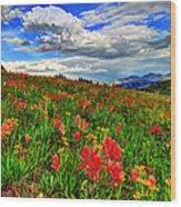 The Art Of Wildflowers Wood Print