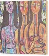 The Art Show Wood Print by Chaline Ouellet