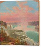 The Artist At Niagara Wood Print