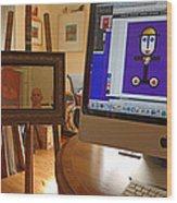 The Artist In His Studio Wood Print