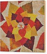 The Artistry Of Fall Klimt Homage Wood Print