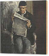 The Artists Father Reading L Evenement Wood Print