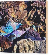 The Artists Palette Death Valley Wood Print