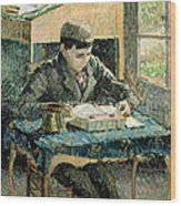 The Artists Son Wood Print by Camille Pissarro