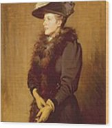 The Artists Wife, 1893 Wood Print