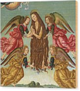 The Ascension Of Saint Mary Magdalene Wood Print