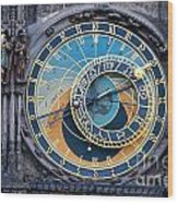 The Astronomical Clock In Prague Wood Print