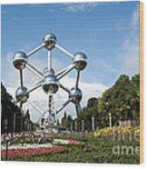 The Atomium Wood Print