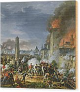 The Attack And Taking Of Ratisbon, 23rd April 1809, 1810 Oil On Canvas Wood Print