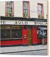 The Auld Dubliner  Wood Print