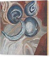 The Aum Symbol Of Life Seen Through Fruits Wood Print