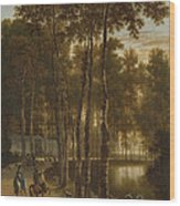 The Avenue Of Birches Wood Print