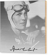 The Aviatrix Wood Print