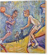 The B-ball Game Wood Print