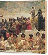 The Babylonian Marriage Market, 1875 Wood Print by Edwin Longsden Long