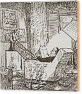 The Bachelor, Illustration From Pont An Wood Print