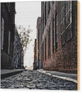 The Back Alley Wood Print