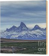 The Back Side Of The Tetons Wood Print