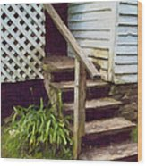 The Back Steps Wood Print