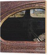 The Back Window Wood Print