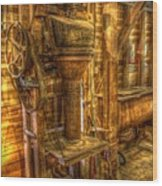 The Bagging Machine Wood Print