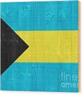 The Bahamas Flag Wood Print