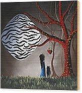 The Bait By Shawna Erback Wood Print by Shawna Erback