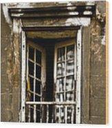 The Balcony Wood Print