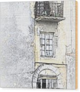 The Balcony Scene II Wood Print