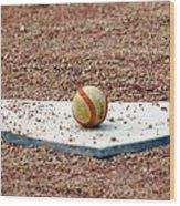 The Ball Of Field Of Dreams Wood Print by Susanne Van Hulst