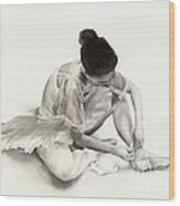The Ballet Dancer Wood Print by Hailey E Herrera