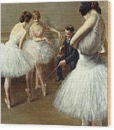 The Ballet Lesson Wood Print