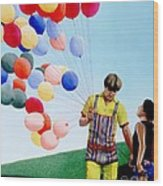 The Balloon Man Wood Print by Michael Swanson