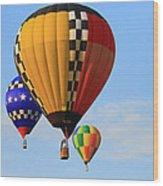 The Balloons Wood Print