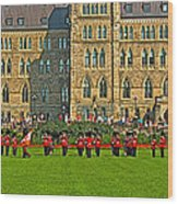 The Band Played On In Front Of Parliament Building In Ottawa-on Wood Print