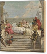 The Banquet Of Cleopatra Wood Print