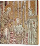 The Baptism Of St. Paul By Ananias, From Scenes From The Life Of St. Paul Mosaic Wood Print