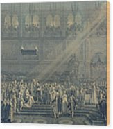 The Baptism Of The King Of Rome 1811-32 At Notre-dame, 10th June 1811, After 1811 Engraving Wood Print