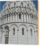 The Baptistery In Pisa  Wood Print