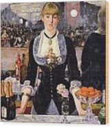 The Bar At The Folies-bergere Wood Print