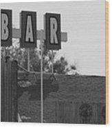 The Bar Wood Print