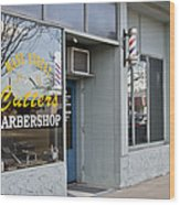 The Barber Shop 3 Wood Print