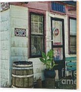 The Barber Shop From A Different Era Wood Print by Paul Ward