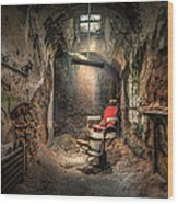 The Barber's Chair -the Demon Barber Wood Print