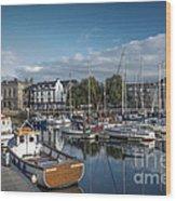 The Barbican Plymouth Devon Wood Print by Donald Davis