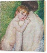 The Bare Back Wood Print by Mary Cassatt Stevenson