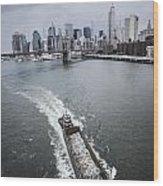 The Barge Wood Print