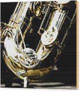 The Baritone Saxophone  Wood Print