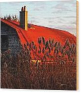 The Barn  At Sunset Wood Print