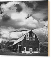 The Barn Before The Storm Wood Print